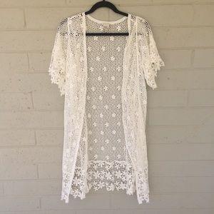 [Cover Stitched] NWOT Lace Duster Open style M/L